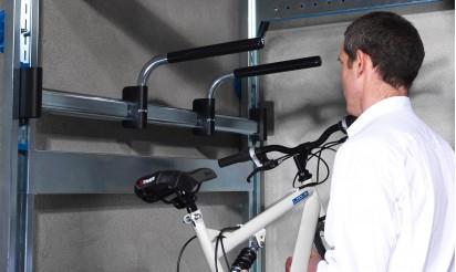 Support vélo plafond